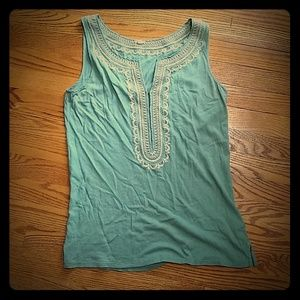 Embroidered JCrew tank top
